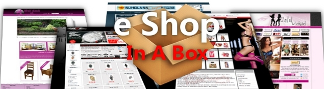 E Shop In A Box eCommerce web site and hosting package