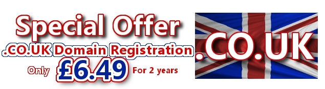 Domain Offer .Co.Uk Domain Registration Only £6.49