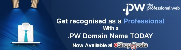 New! .PW Domain Names Now Available