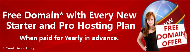 Free Domain Name Offer with Annual Hosting Plans
