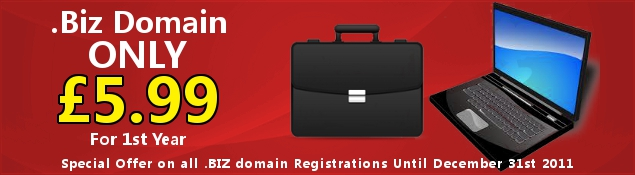 Special Offer .Biz Domain Registration Only £5.99