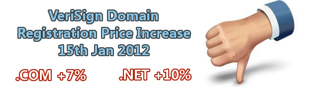 VeriSign Domain Registration Price Increase