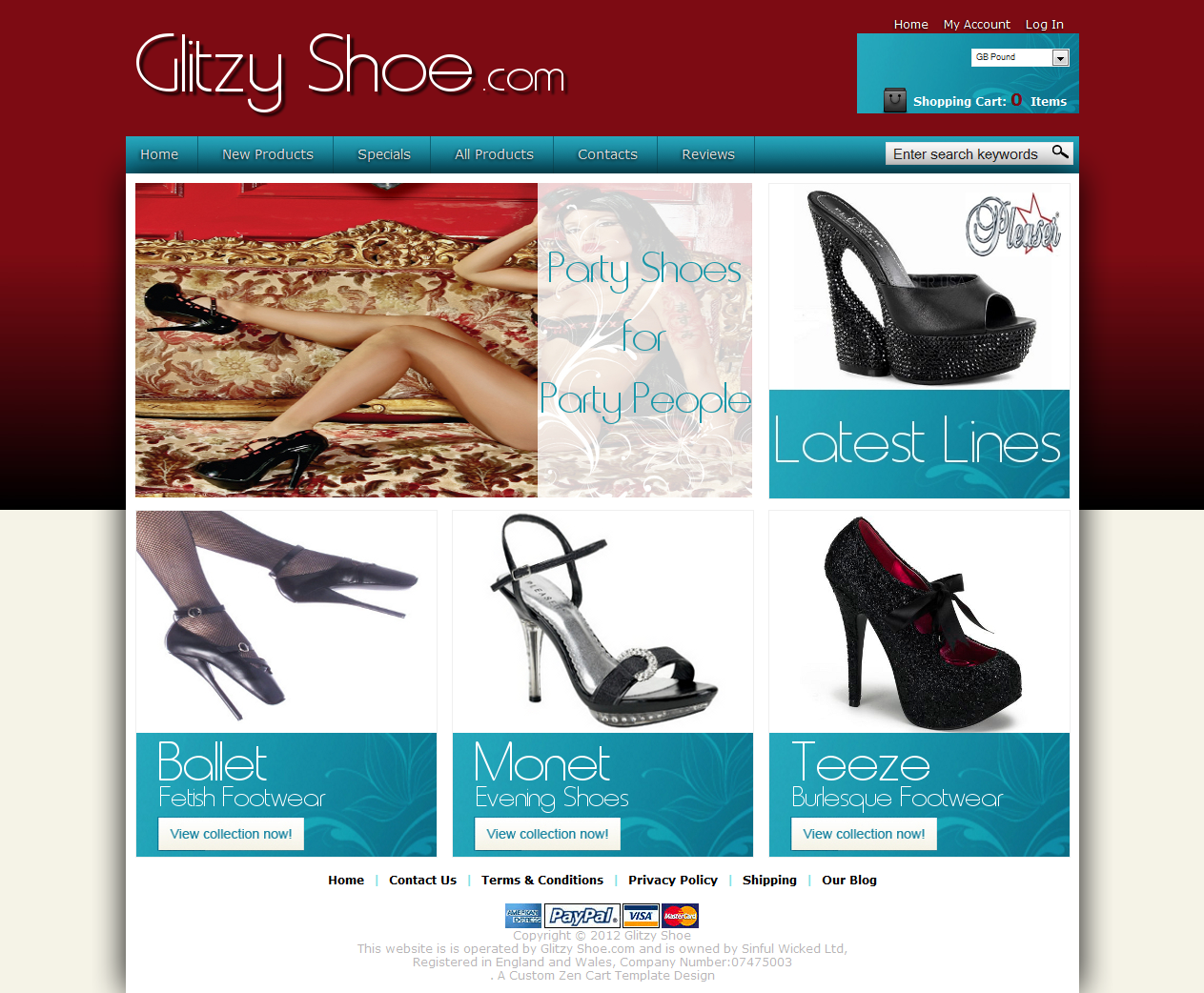 Shop In A Box Glitzy Shoe