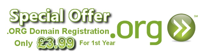 Domain Offer .ORG Domain Registration Only £3.99