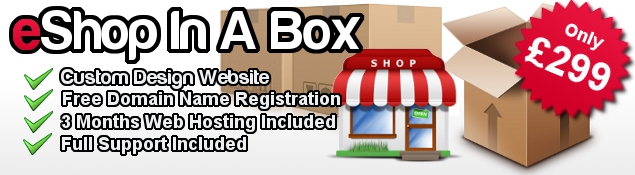 eshop in a box, custom ecommerce package