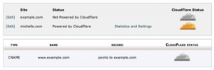 enabling cloudflare in cpanel